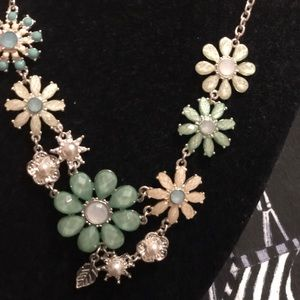 Mint and silver statement necklace by ICING!